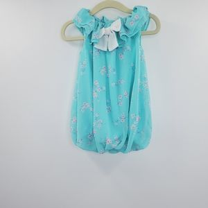 Younglands Baby Teal Floral Dress Now Front Shift
